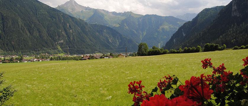 Hotel Alpina Shwendau, Mayrhofen, Austria - Balcony view.jpg